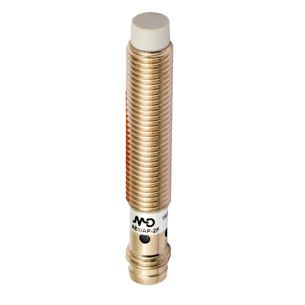 AE1/AP-2F M.D. Micro Detectors Индуктивный датчик M8, неэкранированный, NO/PNP, разъем M8