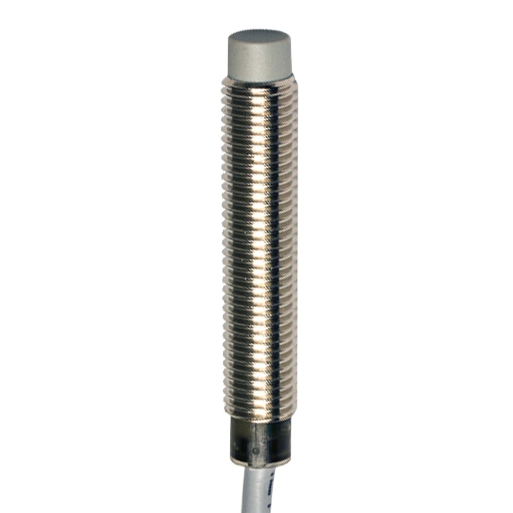 AE1/AN-4A M.D. Micro Detectors Индуктивный датчик M8, LD неэкранированный, NO/NPN, кабель 2м, осевой