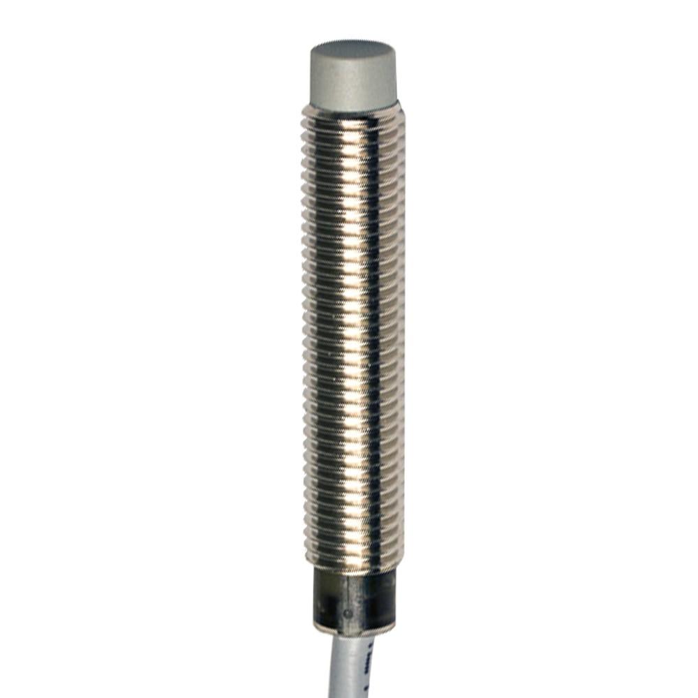 AE1/AP-4A M.D. Micro Detectors Индуктивный датчик M8, LD неэкранированный, NO/PNP, кабель 2м, осевой