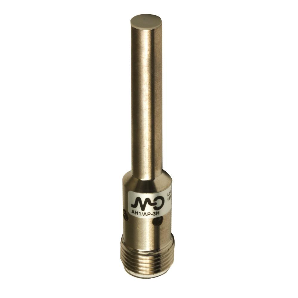 AH1/CP-1H M.D. Micro Detectors Индуктивный датчик D6,5 мм, экранированный, NC/PNP, штекер М12