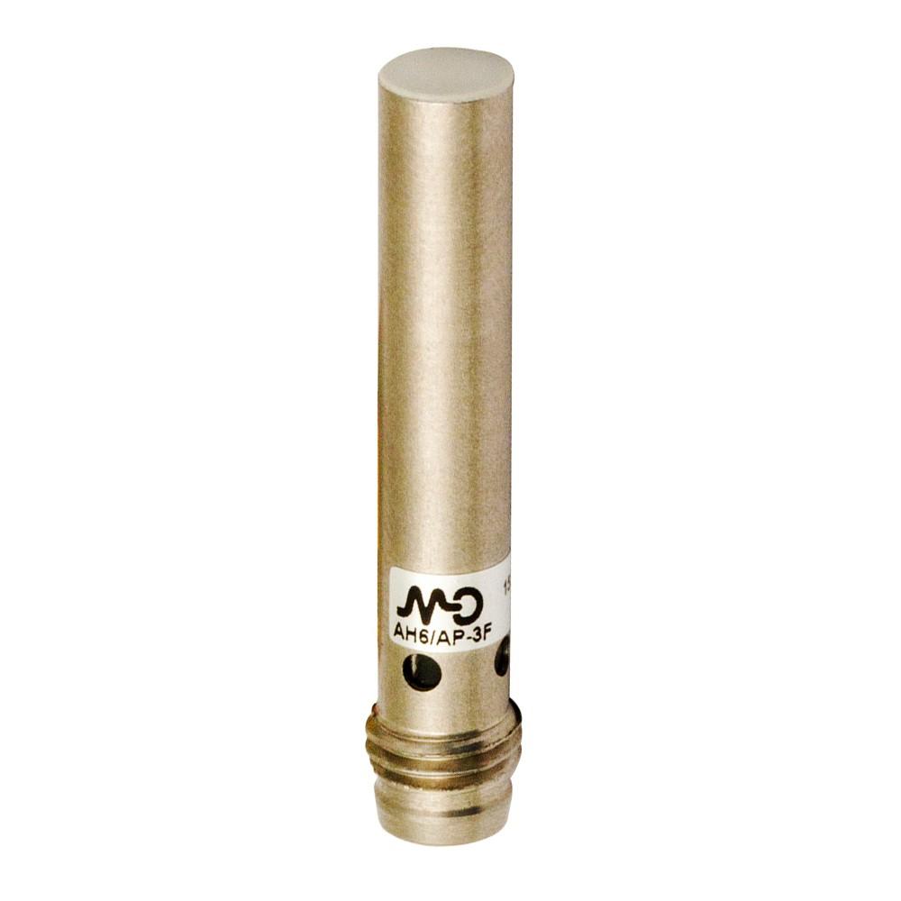 AH6/AP-1F M.D. Micro Detectors Индуктивный датчик D6,5 мм короткий, экранированный, NO/PNP, разъем M8