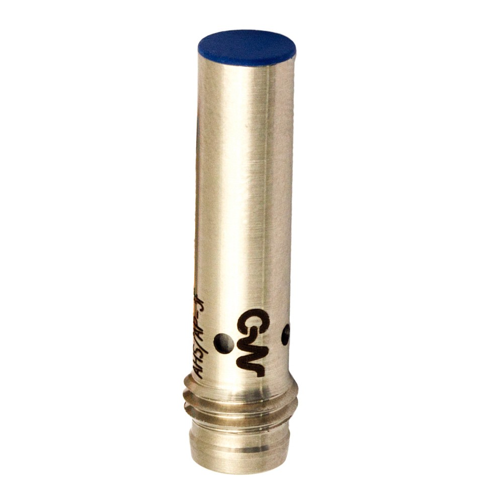 AHS/CP-3F M.D. Micro Detectors Индуктивный датчик Ø6,5, дальность действия 2 мм, NC/PNP, штекер M8