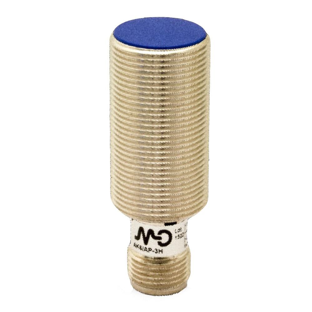 AK6/AN-3H M.D. Micro Detectors Индуктивный датчик M18 короткий, экранированный, NO/NPN, разъем M12