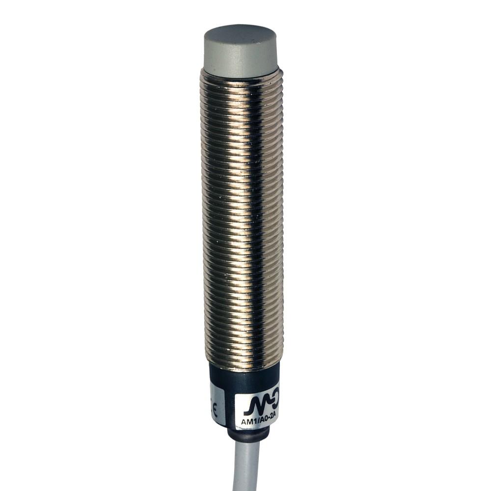 AM1/A0-4A M.D. Micro Detectors Индуктивный датчик M12, неэкранированный, NO, кабель 2м, осевой