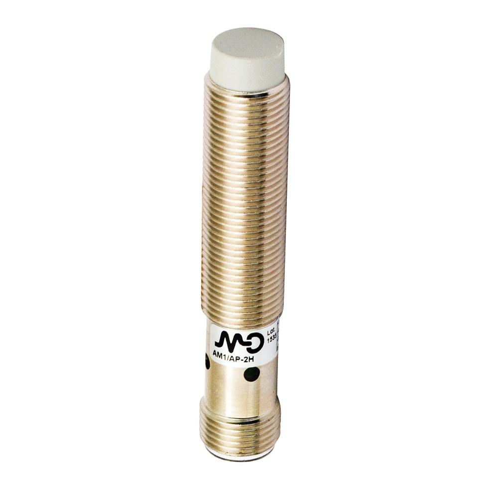 AM1/AN-2H M.D. Micro Detectors Индуктивный датчик M12, неэкранированный, NO/NPN, разъем M12