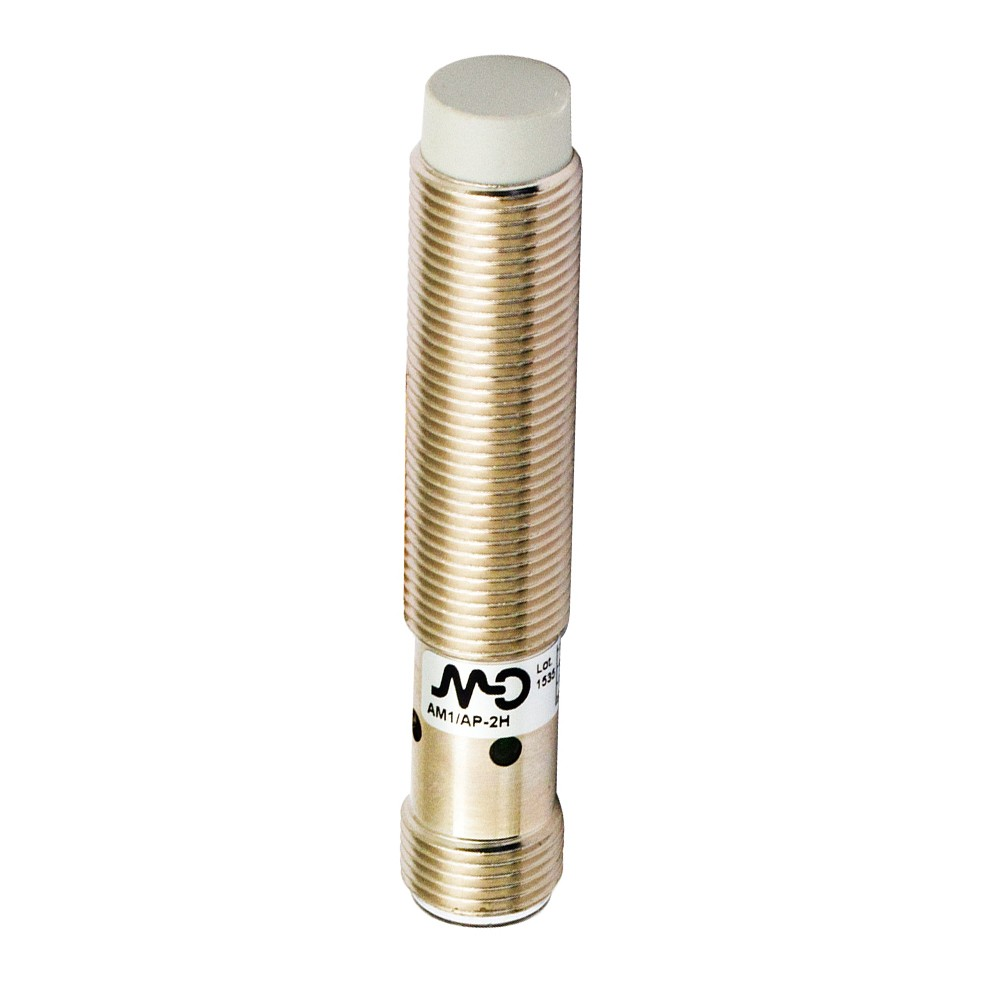 AM1/AN-4H M.D. Micro Detectors Индуктивный датчик M12, неэкранированный, NO/NPN, разъем M12