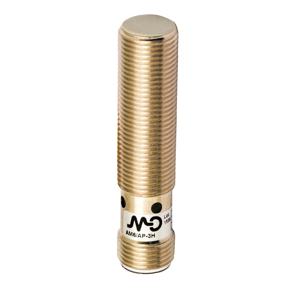 AM6/CP-1H M.D. Micro Detectors Индуктивный датчик M12 короткий, экранированный, NC/PNP, разъем M12