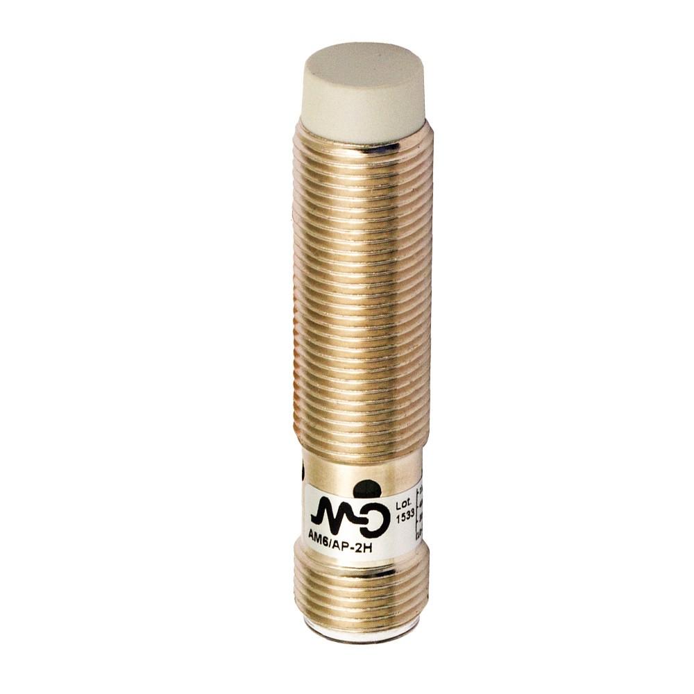AM6/CP-2H M.D. Micro Detectors Индуктивный датчик M12 короткий, неэкранированный, NC/PNP, разъем M12
