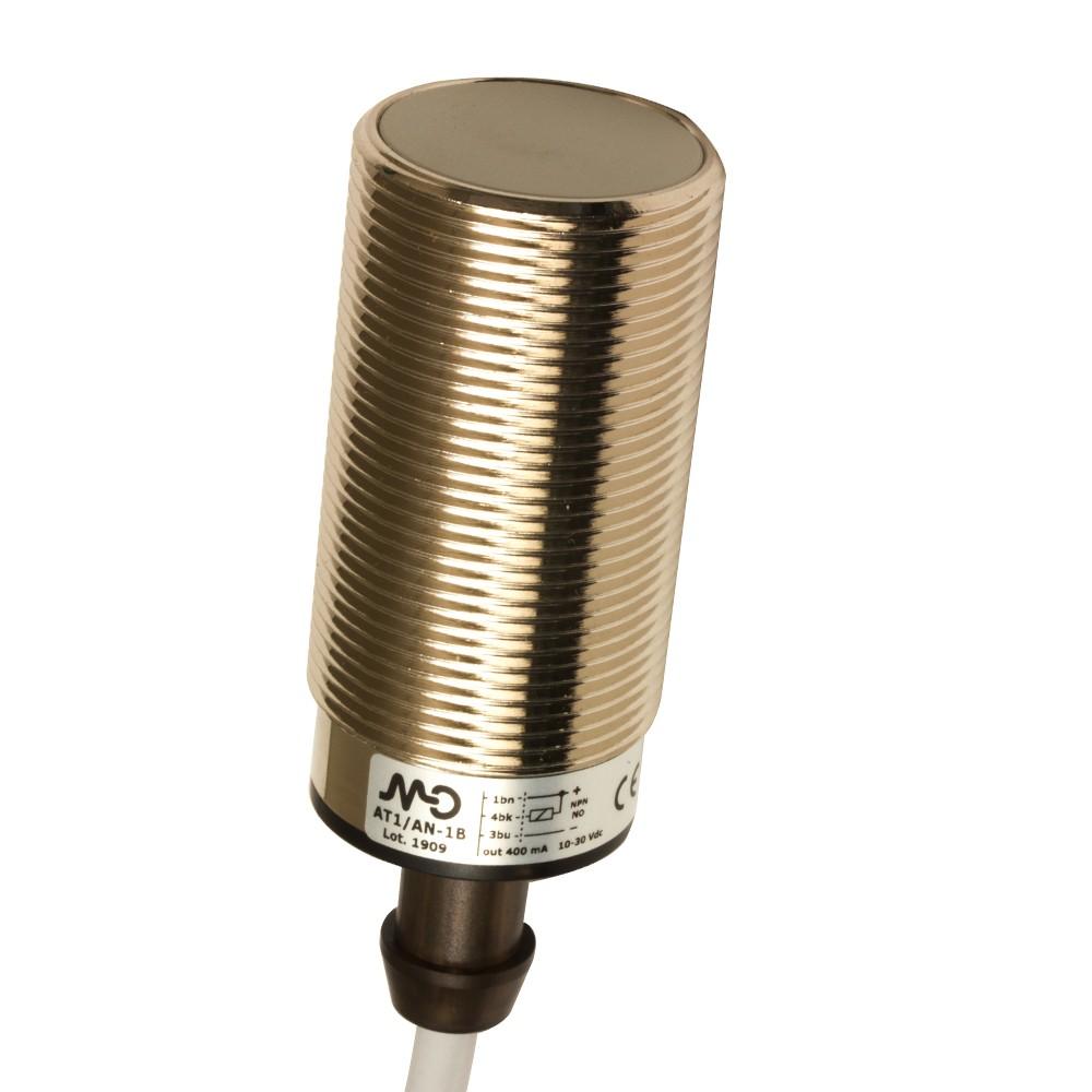 AT1/AN-1B M.D. Micro Detectors Индуктивный датчик M30, экранированный, NO/NPN