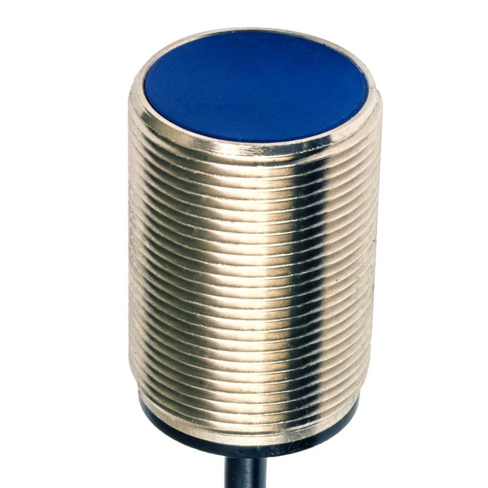 AT6/AN-1A M.D. Micro Detectors Индуктивный датчик M30, экранированный, короткий корпус, NO/NPN, кабель 2м, осевой