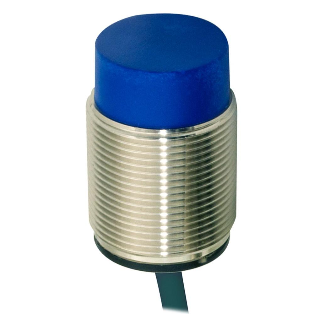 AT6/AN-2A M.D. Micro Detectors Индуктивный датчик M30, неэкранированный, короткий корпус, NO/NPN, кабель 2м, осевой