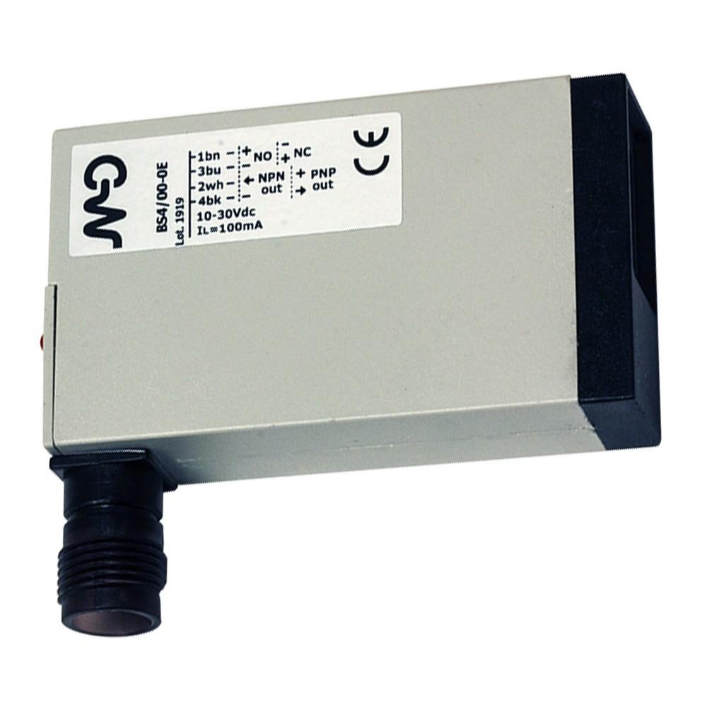BS6/00-0E M.D. Micro Detectors Фотоэлектрический датчик, диффузный, 400 мм, разъем M12