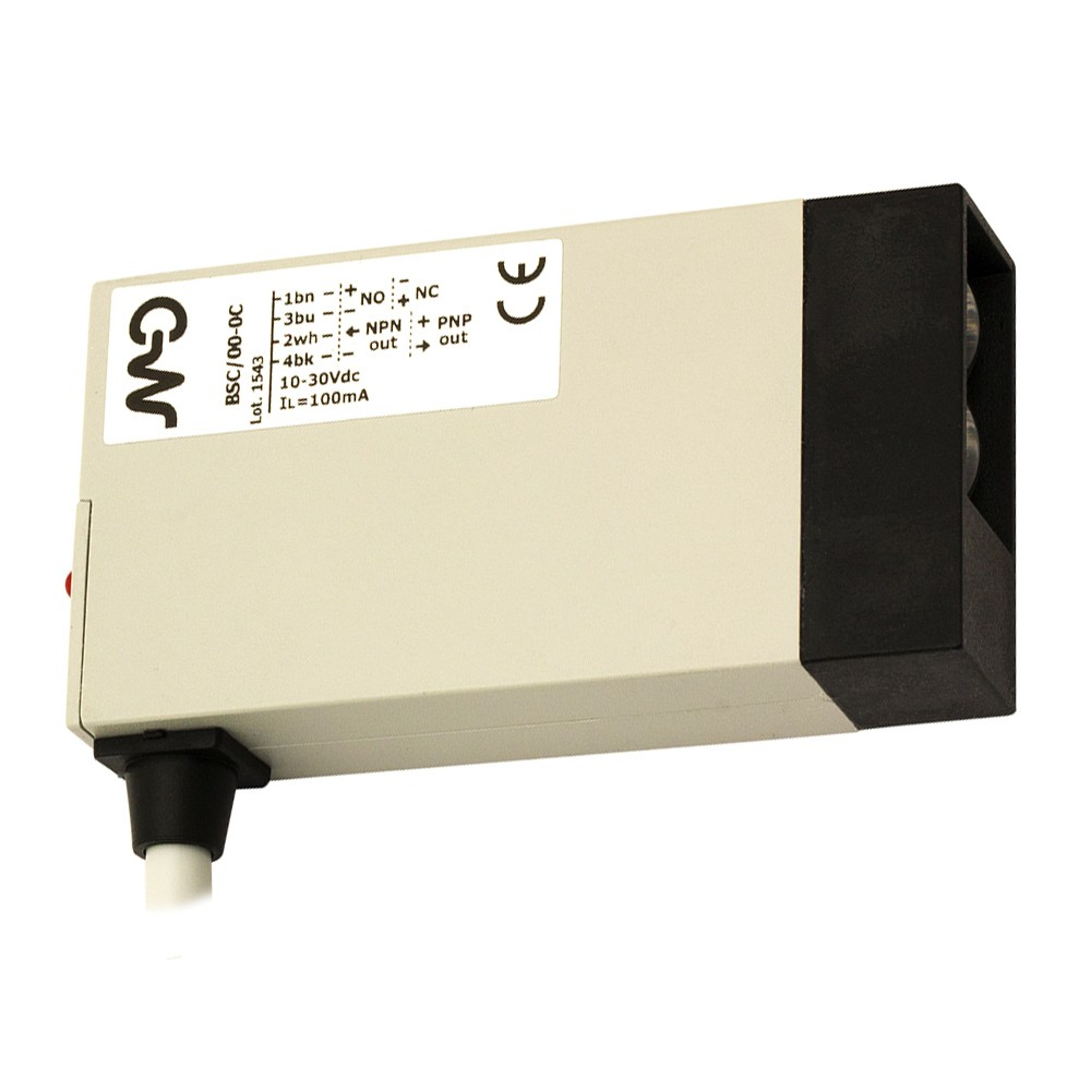 BSC/00-0C86 M.D. Micro Detectors Фотоэлектрический датчик, световозвращающий, 8 м, кабель 5м, 90°