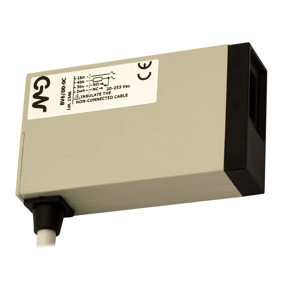 BV2/00-0C M.D. Micro Detectors Фотоэлектрический датчик, диффузный, 100 мм, кабель 2м, 90°