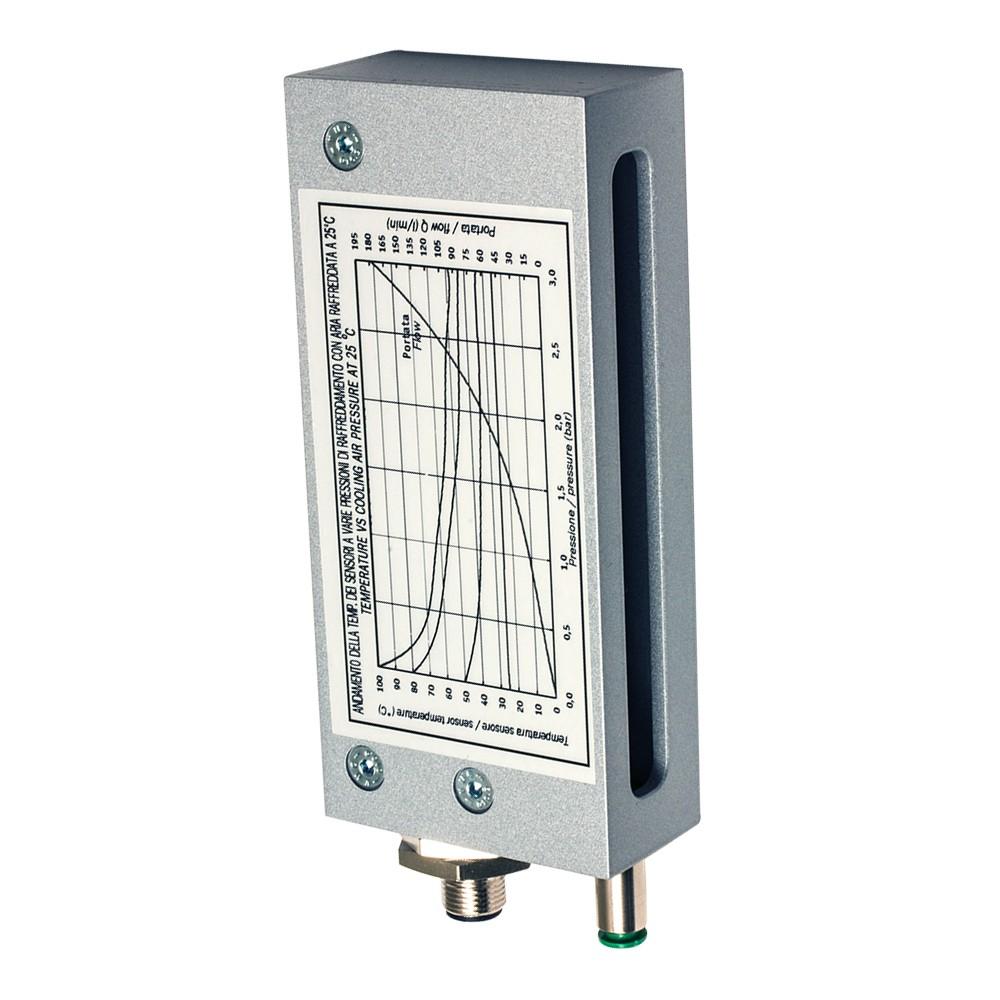 BX80A/1P-1HDA M.D. Micro Detectors Барьерный датчик, приемник, 2м, 10мс PNP NO/NC M12 4 pin с алюминиевым корпусом, стеклянная оптика