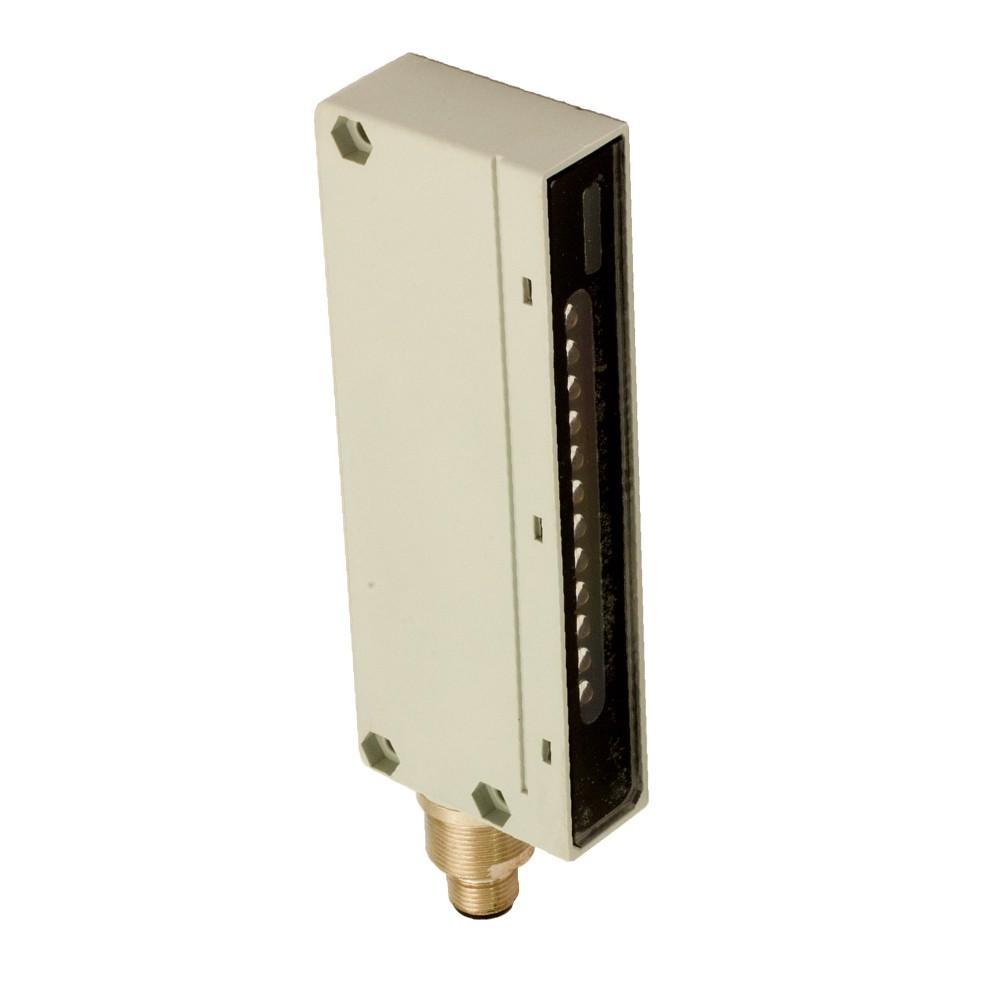 BX80B/1P-0H6XLS M.D. Micro Detectors Барьерный датчик, приемник, скрещенный луч, 2м, 10мс PNP NO/NC M12 4 pin, с алюминиевым корпусом дальность действия = 2,5 м, стробо свет