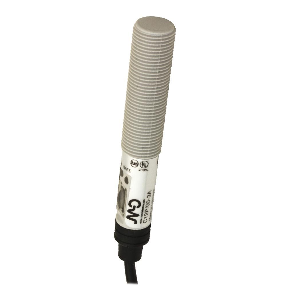 C12P/00-3A M.D. Micro Detectors Ёмкостный датчик M12, пластиковый, экранированный, DC 8мм PNP/NPN NO/NC, кабель 2м, осевой