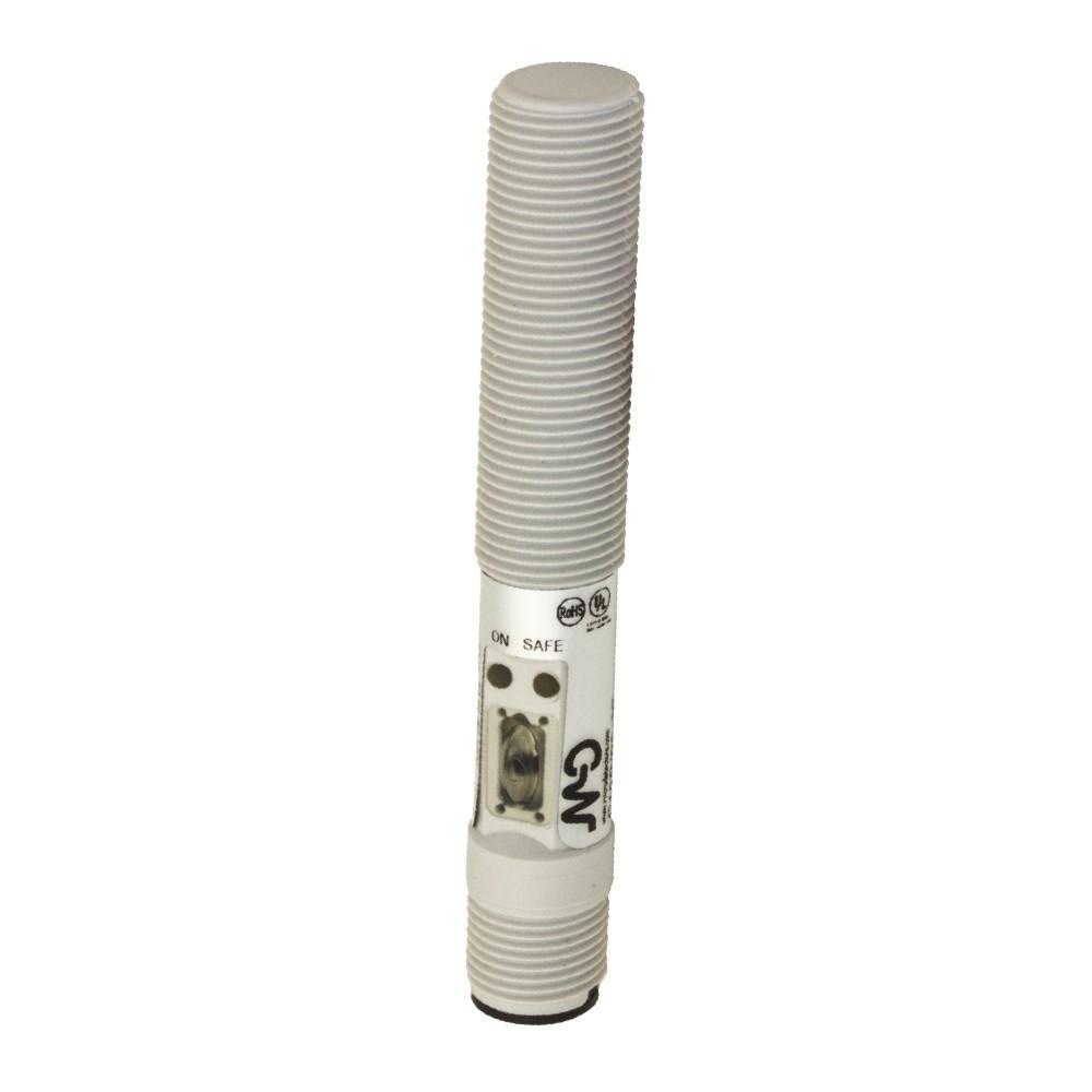 C12P/00-3E M.D. Micro Detectors Ёмкостный датчик M12, пластиковый, экранированный, DC 8мм PNP/NPN NO/NC, разъем M12