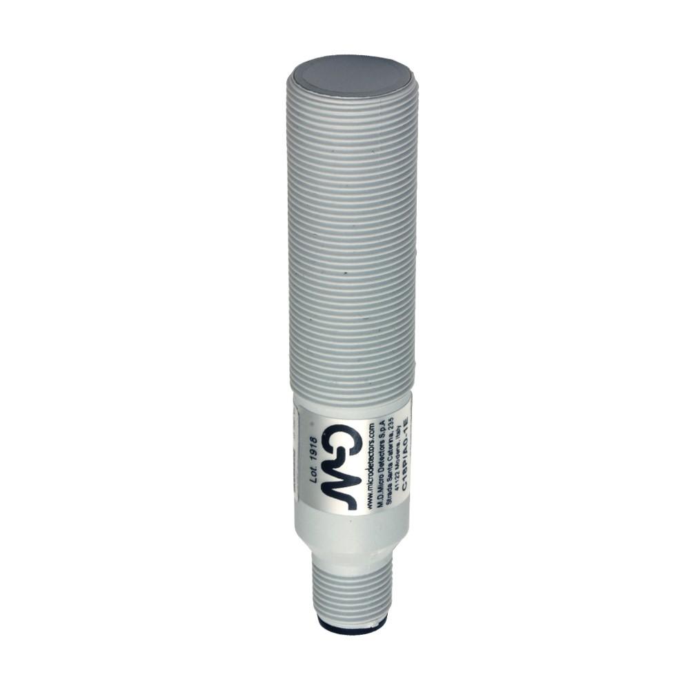 C18P/BP-1E M.D. Micro Detectors Ёмкостный датчик M18, пластиковый, экранированный, DC 8мм, PNP, NO+NC, разъем M12