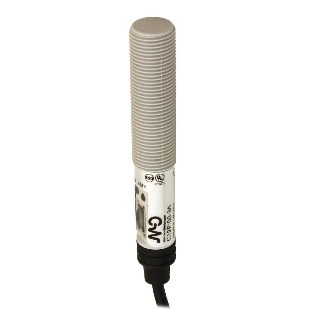 C18P/BN-1A M.D. Micro Detectors Ёмкостный датчик M18, пластиковый, экранированный, DC 8мм, NPN, NO+NC, кабель 2м, осевой