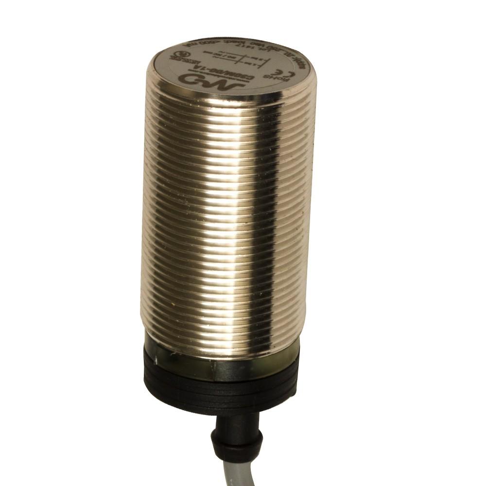 C30M/00-1A M.D. Micro Detectors Ёмкостный датчик M30, нерж. сталь, экранированный, AC 16мм NO/NC, кабель 2м, осевой