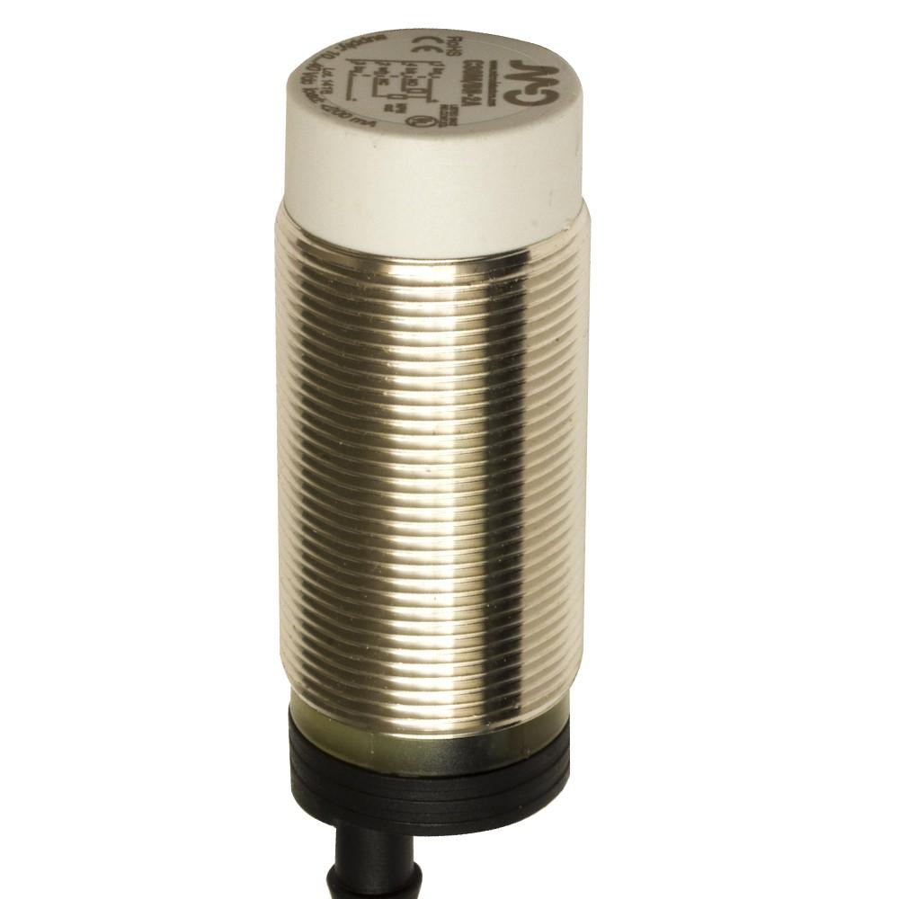 C30M/BN-2A M.D. Micro Detectors Ёмкостный датчик M30, нерж. сталь, неэкранированный, DC 25мм, NPN, NO+NC, кабель 2м, осевой