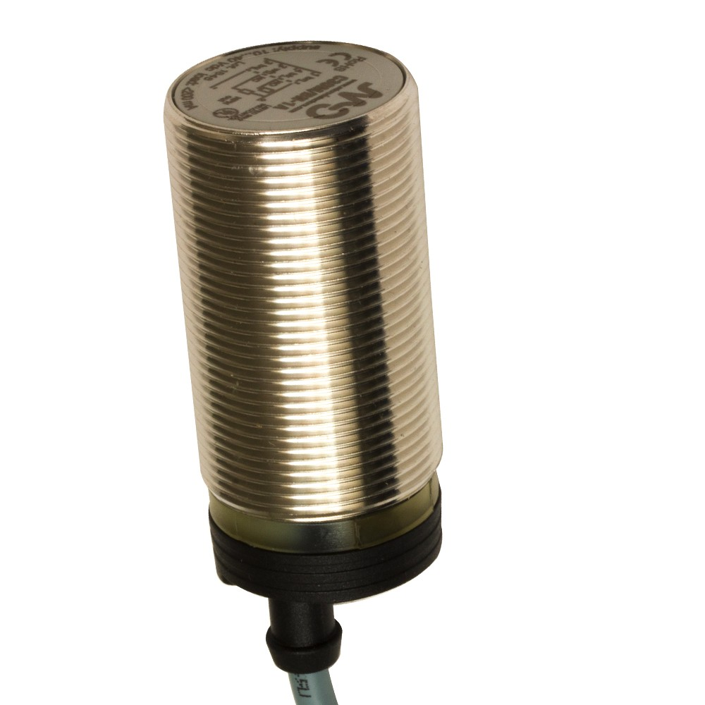 C30M/BN-1A M.D. Micro Detectors Ёмкостный датчик M30, нерж. сталь, экранированный, DC 16мм, NPN, NO+NC, кабель 2м, осевой