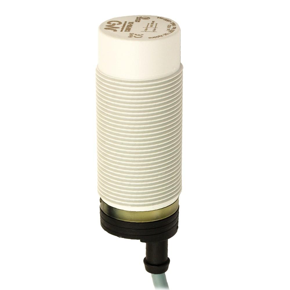 C30P/00-2A M.D. Micro Detectors Ёмкостный датчик M30, пластиковый, неэкранированный, AC 25мм NO/NC, кабель 2м, осевой