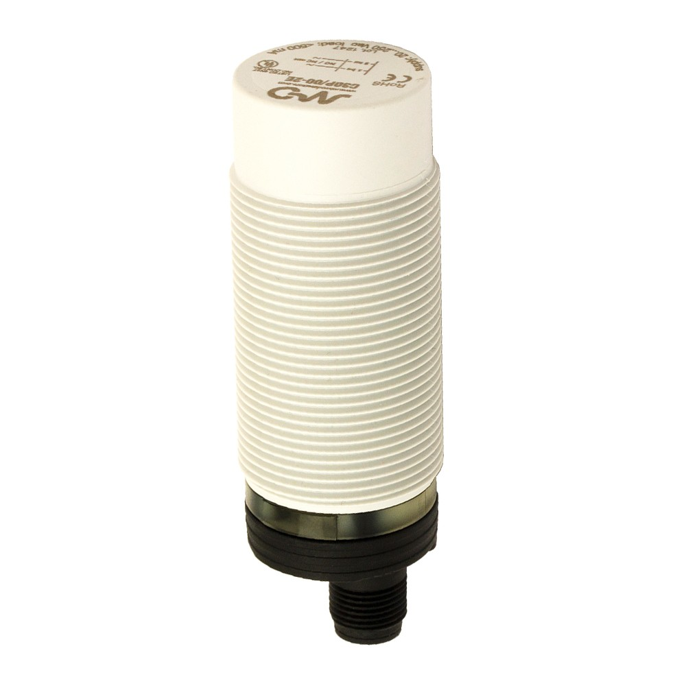C30P/00-2E M.D. Micro Detectors Ёмкостный датчик M30, пластиковый, неэкранированный, AC 25мм NO/NC, разъем M12