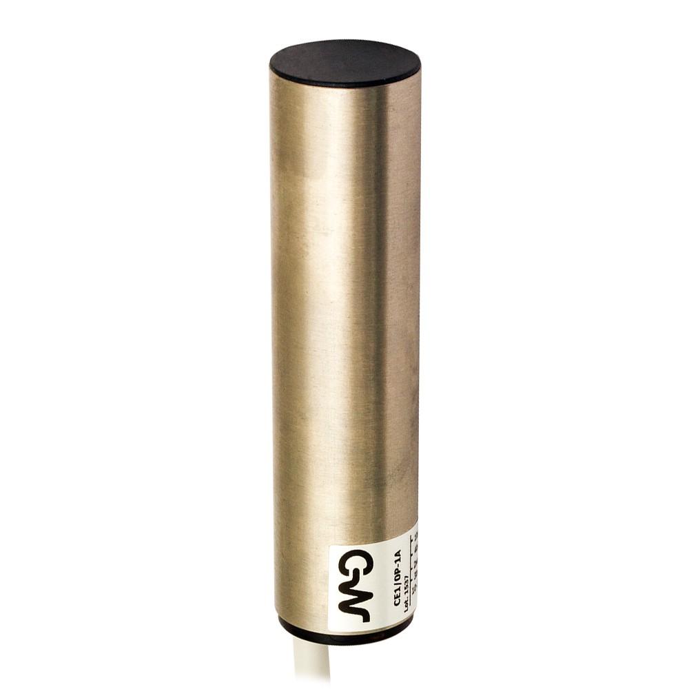 CE1/0P-1A M.D. Micro Detectors Ёмкостный датчик D20, экранированный, PNP, кабель 2м, осевой
