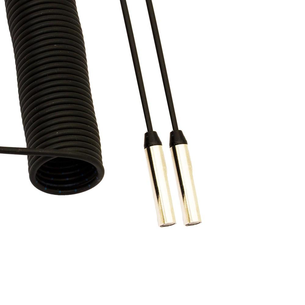 CF/RC9-20 M.D. Micro Detectors Сканирующая головка с оптоволоконным витым отрезным шнуром 2 м, излучатель/приемник