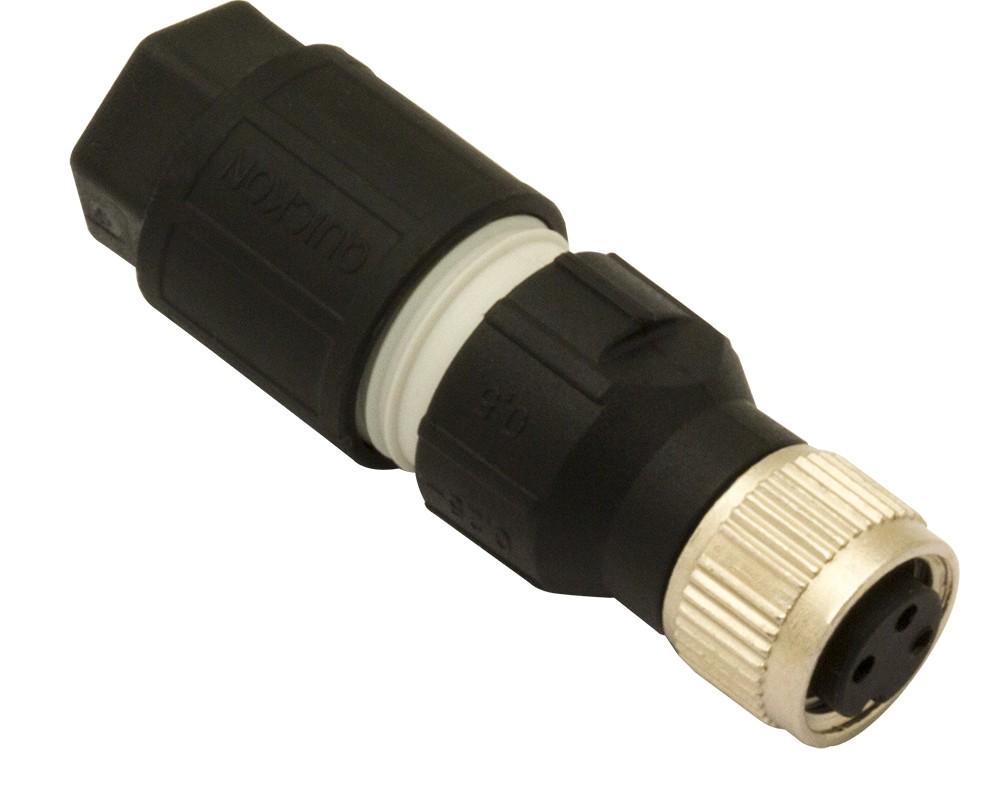CL08/1A-00A M.D. Micro Detectors Разъем M8, гнездовой, 3 полюса, осевой, быстрое соединение