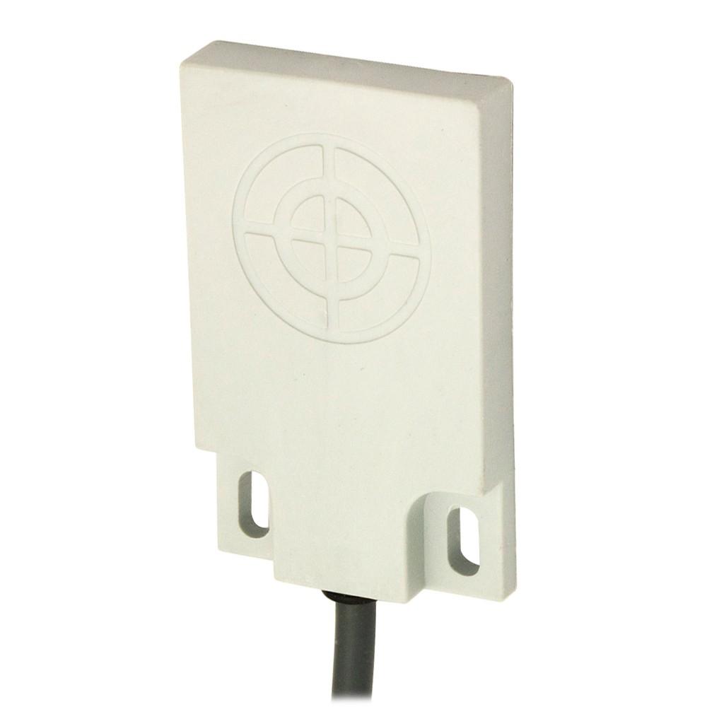 CQ50/AP-2A M.D. Micro Detectors Ёмкостный датчик, кубический, пластиковый, DC 6мм, PNP, NO, кабель 2м, 90°