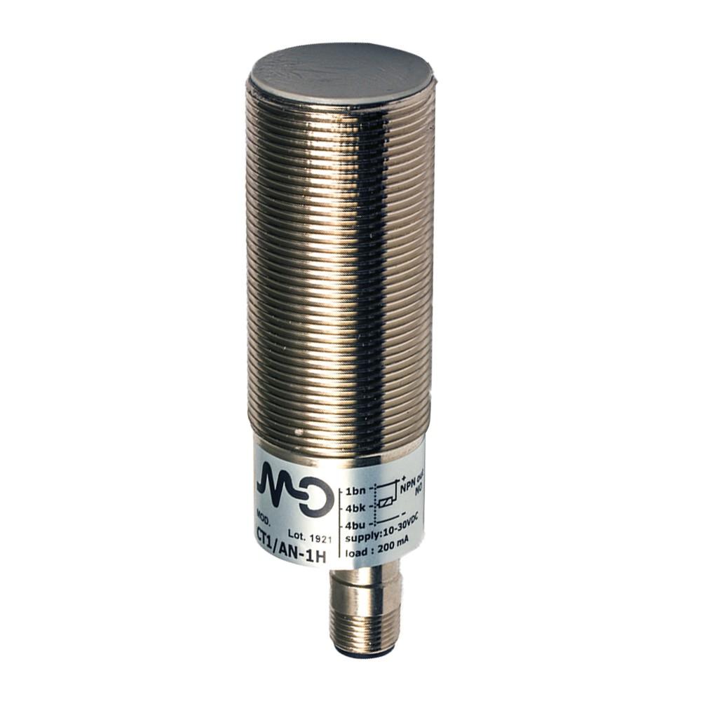 CT1/CP-1H M.D. Micro Detectors Ёмкостный датчик M30, экранированный, NC/PNP, разъем M12