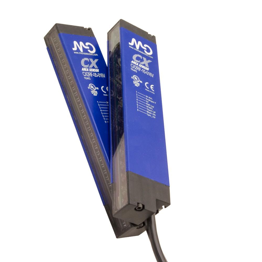 CX0E1RP/10-016V M.D. Micro Detectors Барьерный датчик, внутренняя оптическая синх., полные поперечные оптические лучи, P: 10мм, H: 160мм, дальность действия: 6м, один соединяющий кабель