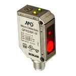 QFRS/BP-1F M.D. Micro Detectors Фотоэлектрический датчик, миниатюрный, кубический, IP69K, металлический, AISI 316L подавление фона, 200мм, красный PNP NO +NC, штекер M8