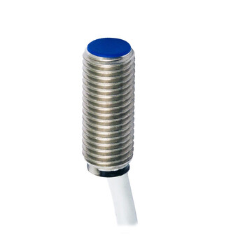 AES/AP-1A M.D. Micro Detectors Индуктивный датчик M8, дальность действия 1,5 мм, NO/PNP, кабель 2м, осевой