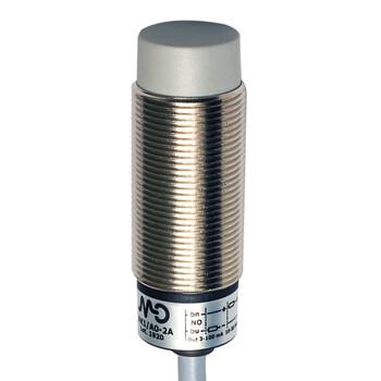 AK1/A0-2A Micro Detectors Индуктивный датчик M18, неэкранированный, NO, кабель 2м, осевой