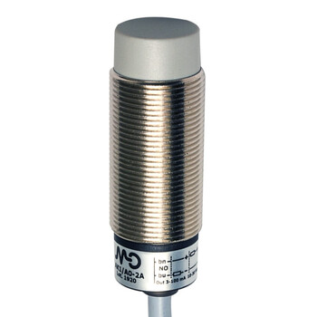 AK1/CN-2A Micro Detectors Индуктивный датчик M18, неэкранированный, NC/NPN, кабель 2м, осевой