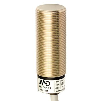 AK1/CP-1A Micro Detectors Индуктивный датчик M18, экранированный, NC/PNP, кабель 2м, осевой