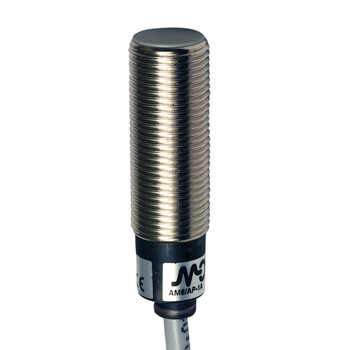 AM6/CN-1A Micro Detectors Индуктивный датчик M12 короткий, экранированный, NC/NPN, кабель 2м, осевой