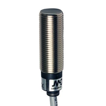 AM6/CN-3A Micro Detectors Индуктивный датчик M12, экранированный, NC/NPN, кабель 2м, осевой