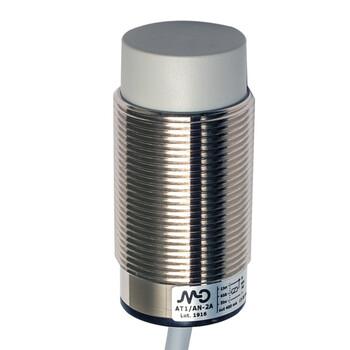 AT1/AP-2A M.D. Micro Detectors Индуктивный датчик M30, неэкранированный, NO/PNP, кабель 2м, осевой