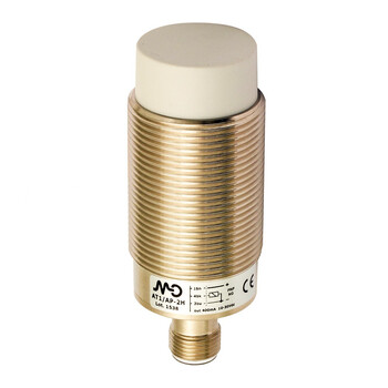AT1/CP-4H M.D. Micro Detectors Индуктивный датчик M30, неэкранированный, NC/PNP, разъем M12