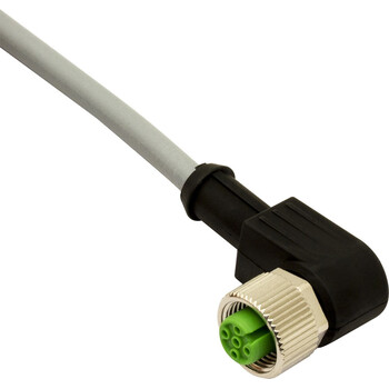 CD12M/0B-100C1US M.D. Micro Detectors Гнездовой разъем M12, 90°, 4 полюса, кабель ПВХ 10 м CSA