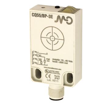 CQ55/BN-3E M.D. Micro Detectors Ёмкостный датчик, кубический, пластиковый, DC 25мм, NPN, NO+NC, разъем M12
